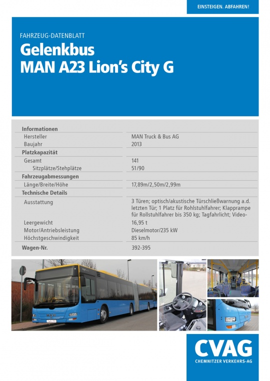 Gelenkbus  MAN Lion´s City A23
