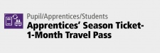 Apprentices' Season Ticket-1-Month Travel Pass